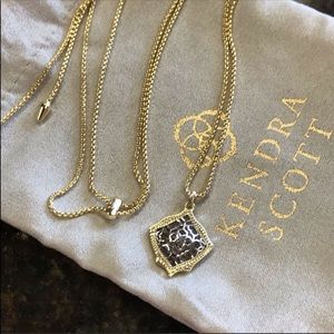 NWT KENDRA SCOTT Kacey Gold Necklace SILVER Filigr